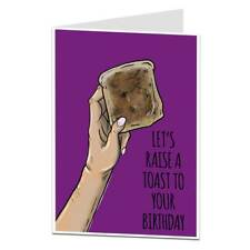 """Funny Silly Birthday Card For Men & Women """"Raise A Toast"""""""
