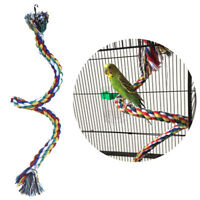 Parrot Rope Braided Toys Pet Parrot Bird Chew Rope Perch Coil Bird Cage Trai-`AU