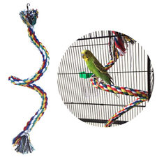 New listing Parrot Rope Braided Toy Pet Parrot Bird Chew Rope Perch Coil Bird Cage TraininHv