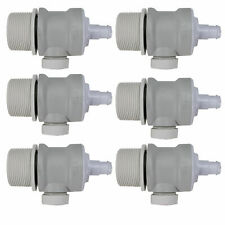 Pentair Swimming Pool Cleaner Universal Wall Fitting | EW22 (6 Pack)