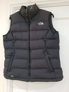The North Face Womens Black Diablo Down Body Warmer Gillet Size Large