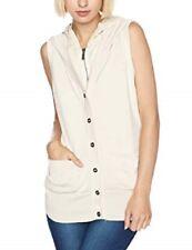 Converse Womens John Varvatos Sleeveless Zipped Hooded Top Cardigan Size L