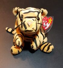 """Ty Beanie Baby - """" Stripes"""" the Retired Rare Tiger* Multiple Tag Errors"""