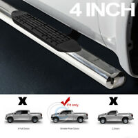 """Fit 07-20 Toyota Tundra Double/Crew 4"""" Chrome Side Step Nerf Bars Running Boards"""