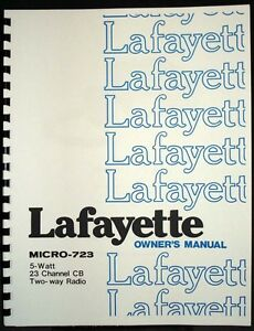 Lafayette CB Radio Micro-723 Owner's Manual