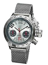 Mens Chronograph Watch Big Face Mesh Bracelet Large Dial Relojes Hombre Cheap