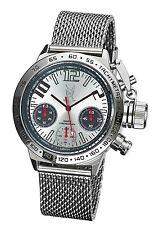 Mens Chronograph Watch Big Face Mesh Bracelet Large Dial Relojes Hombre Cheap