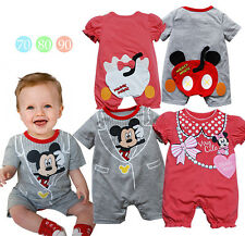 New Summer Disney Mickey Minnie Baby Boys/ Girls Toddlers Costume Outfit