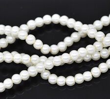 40g approx 400 Ivory Glass Pearl Beads 4mm  Jewellery making  Bargain