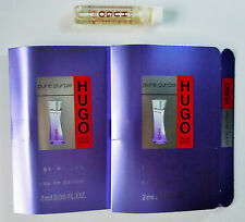 HUGO BOSS PURE PURPLE EDP Women Perfume 2 ml 0.06 fl oz Sample Vial Mini Lot X 2