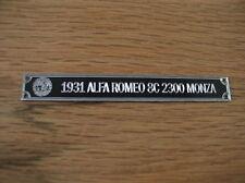 Pocher 1/8 1931 Alfa Romeo 8C 2300 Monza Metal Display Plaque