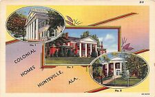 Alabama postcard Huntsville, Colonial Homes multiview