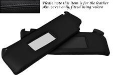 Black stitch fits RENAULT CLIO MK1 1990-1998 2x pare-soleil cuir couvre uniquement