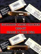 Schrade 194OT Knife Old Timer Liner Lock Derlin Handles W/Packaging,Papers Rare