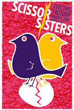 Scissor Sisters Pa 2007 Gig Poster 88 Made S/N Ed