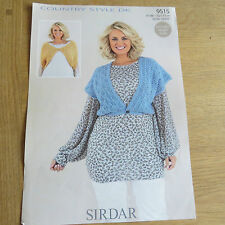 Sirdar Country Style D.K. Pattern No. 9515 Ladies Bolero Sweater