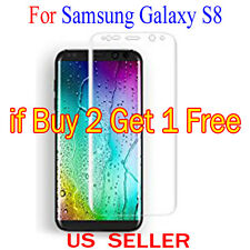 Full Cover Curved Clear Screen Protector Guard Film For Samsung Galaxy S8