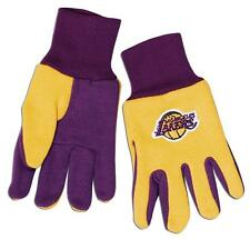Los Angeles Lakers Two Tone Gloves - Youth Size [NEW] NCAA Work Kid Child Glove