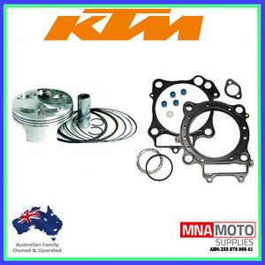 KTM450 EXC-F PISTON & TOP END GASKET REBUILD KIT 2007 to 2011 EXCF