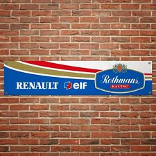 Rothmans Renault Williams Banner Garage Workshop PVC F1 Sign Track Display
