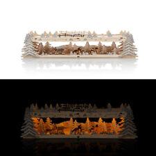 Schwibbogen Erhöhung mit LED Beleuchtung & Timer - Schwibbogenbank Lichterbogen