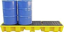 4 Drum In-Line Spill Pallet Bunded Storage Oil Chemical Spill