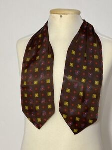 "GORGEOUS BROWN  ASCOT 100% SILK GEOMETRIC&PAISLEY 40""/5"" EXCELLENT CONDITION"