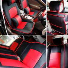 Car Seat Cover PU Leather CushionFor Dodge Ram 1500 25003500 2013-2017 Black&Red