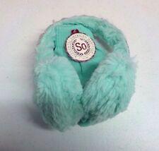 Girls One Size So Brand Mint/Silver Winter Ear Muffs & Gloves Set Nwt #10696