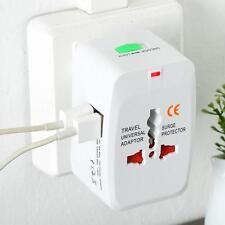 1x Universal Travel Adapter AU/US/UK/EU World AC Plug 2USB Power Outlet Charger!
