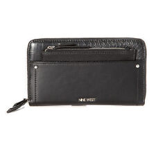 Nine West $45 Table Treasure Zip Around Wallet Zip Pouch Black Phone Case Index