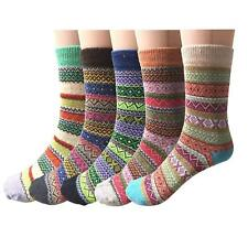 5 Pairs Womens Wool Cashmere Thick Warm Sock Soft Casual Winter Thermal Socks AU