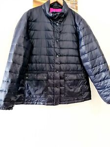 Women's R B SELLARS Plus Size 22 Puffy Jacket. Down Lined. Blue Pink