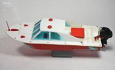Raro Motoscafo Giocattolo battery operated STARFISR PVC 49cm vintage toy'60-0RV