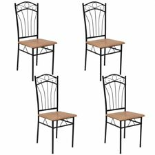2/4/6 pcs Dining Chairs Steel Frame Home Kitchen Dining Room Seat Furniture UK