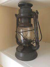 ANTIQUE OLD PRIMITIVE OIL GAS KEROSENE GERMAN FEUER HAND LAMP N*275 LANTERN