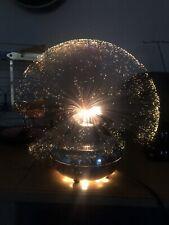 Vintage Fantasia Sunburst Pyrofag Chrome Rotating Fiber-Optic Motion Table Lamp