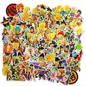 100 Piece Dragon Ball Z DBZ Character Bulma Goku Laptop Decal Phone Sticker Pack