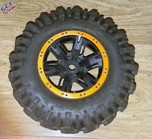 2x Traxxas X-Maxx Wheels Beadlock Look Rim Trims (ABS) Orange Without Screws
