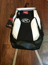 New Rawlings R500 Baseball Softball Backpack White Black Gray