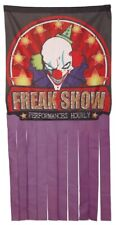 Large 1.58m Horror Freak Show Circus Door Curtain Decoration Halloween Party