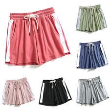 Womens Summer Drawstring Elastic Waist Shorts Casual Sports Yoga Baggy Hot Pants