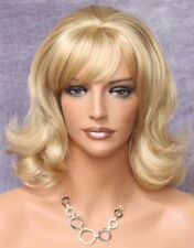 CLASSY medium Length Flipout Curls Golden Blonde MIx FULL WIG WAOG 24-613
