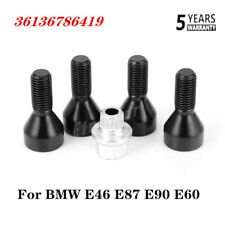 For BMW Locking Security Wheel Bolts Nuts Set 36136786419 E46 E87 E90 E60 NEW