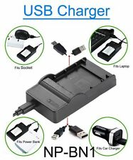 USB Battery Charger for Sony DSC-W550/S DSC-W560 DSC-W560/B CyberShot Camera