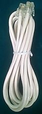Fax Modem Printer RJ11 Male to RJ11 Male Phone Cable Round Ivory Cord 7Ft 4-Wire