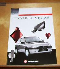 VAUXHALL CORSA VEGAS SPECIAL EDITION SALES BROCHURE SEPT 1996 V10452