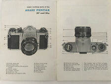 ASAHI PENTAX SV & S1A Instructions Manual MODELS SV & S1A Instructions Book