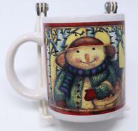 Gibson Snowman Coffee Mug Family Winter Woods 10 oz Holiday Hot Coco Tea Cup '06