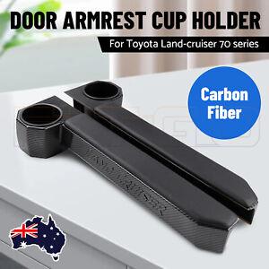 Pair RH & LH Door Armrest Cup Holder For Toyota Land Cruiser 70 Series AU STOCK